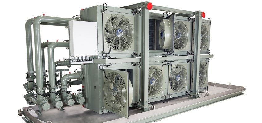 Variable-speed air-forced cooler technology